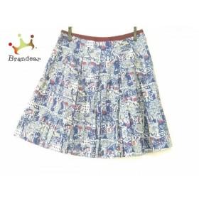ロイスクレヨン Lois CRAYON スカート サイズM レディース 美品 ネイビー×ダークブラウン  値下げ 20191203