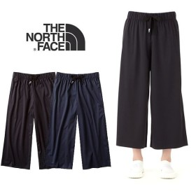 【5%還元】ノースフェイス レディース パンツ ズボン UVカット THE NORTH FACE テックラウンジナインテンパンツ ワイドパンツ NBW31762