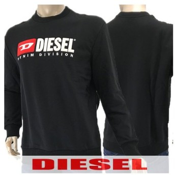 LAST1/Lサイズ/ディーゼル DIESEL メンズ スウェットシャツ S CREW 00SHEP 0CATK ブラック/900/トレーナー/クルーネック/長袖/セール