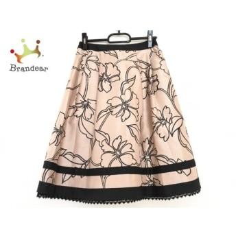 トゥービーシック TO BE CHIC スカート サイズ38 M レディース ベージュ×黒 花柄 新着 20190907
