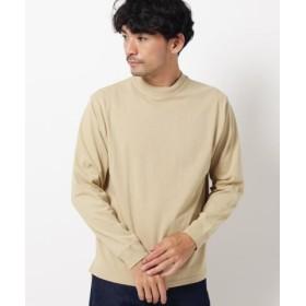 (THE SHOP TK/ザ ショップ ティーケー)【WEB限定】USAコットンモックネックロングTシャツ/メンズ ベージュ(052)