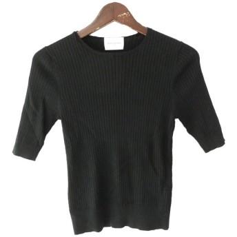 UNITED ARROWS リブニットセーター ブラック サイズ:- (原宿店) 190903