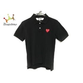 プレイコムデギャルソン 半袖ポロシャツ サイズS レディース 黒×レッド×マルチ 刺繍 新着 20190907