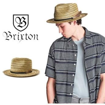 ブリクストン ハット 麦わら帽子 ストローハット BRIXTON [ CROSBY II FEDORA ] 帽子 羽付き [0304]