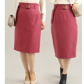 ビス(ViS)/【EASY CARE】【着丈が選べる】ウォッシャブルフラノタイトスカート