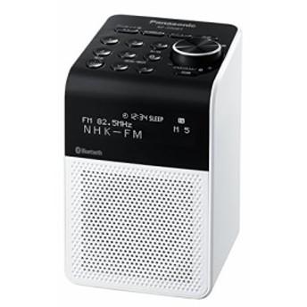 パナソニック ラジオ FM/AM/ワイドFM/Bluetooth対応 ホワイト RF-200BT-W(中古品)