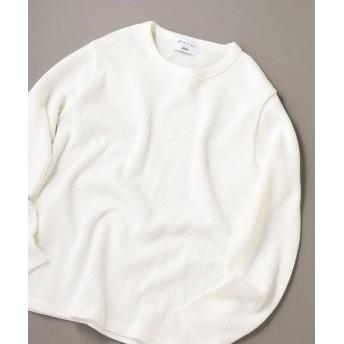シップス SHIPS JET BLUE×gim: ヘビーカノコ クルーネックTシャツ メンズ オフホワイト SMALL 【SHIPS】