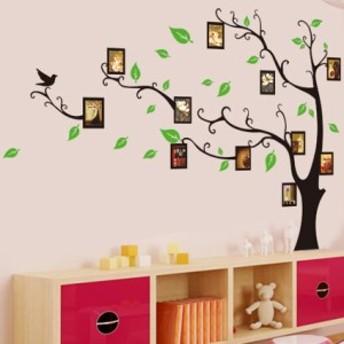 ウォールステッカー 壁紙シール シールタイプ はがせる 壁シール フォトフレーム 写真 大きな木 ツリー 樹木 おしゃれ 飾り付