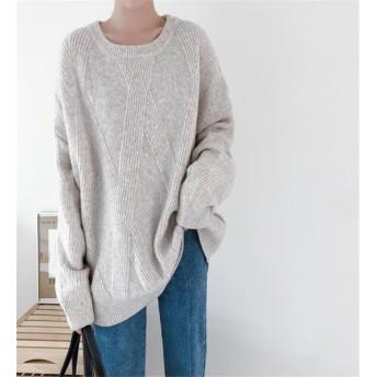 高レビュー多数 超特価中 韓国ファッション おしゃれな 気質 トレンド 大人気 新品 減齢 大きいサイズ スリム セーター 百掛け ニットトップス