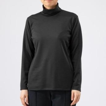 MIZUNO SHOP [ミズノ公式オンラインショップ] ブレスサーモミニボーダーハイネックシャツ[レディース] 08 チャコールグレー B2MA9740