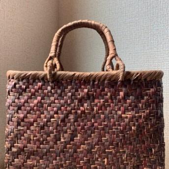 【新品】 国産桜皮、山葡萄 手作り カゴバッグ 「心妻」