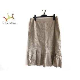レキップ ヨシエイナバ スカート サイズ17 XL レディース ベージュ プリーツ 新着 20190907