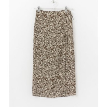 SENSE OF PLACE(センスオブプレイス) スカート スカート レトロプリントラップスカート【送料無料】
