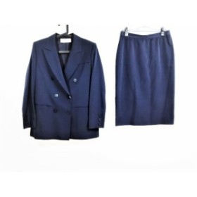ジバンシー GIVENCHY スカートスーツ サイズ12号 レディース ネイビー 肩パッド/BOUTIQUE【中古】20190904