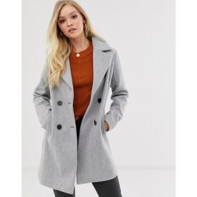 ファッションユニオン Fashion Union レディース コート アウター smart double breasted coat グレー