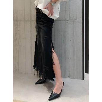 その他スカート - GYDA サイドスリットデニムロングスカート