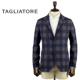 TAGLIATORE タリアトーレ メンズ モンテカルロ チェック柄 シングルジャケット 1SMC22K 85QEG023(ネイビー×ブラウン)special priceBM