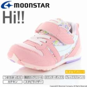 ムーンスター キャロット 子供靴 キッズシューズ MS C2121S ピンクフラワー 高機能インソールを搭載したキッズランニングシューズ