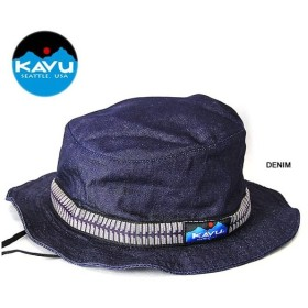 【5%還元】カブー ハット ストラップバケットハット KAVU Strap Bucket Hat デニム 帽子 Made in USA 米国製
