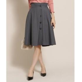 Bon mercerie / ボン メルスリー 【SSサイズあり】LINONボタンフレアスカート