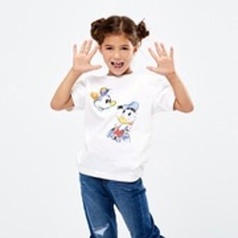KIDS ミッキー アート UT ダニー・サングラ(グラフィックTシャツ・半袖)