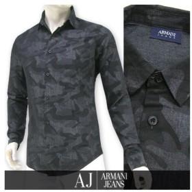 完売御礼/アルマーニ ジーンズ ARMANI JEANS メンズ シャツ 3Y6C09 6DBAZ カモフラブラック/2206/長袖/PSS