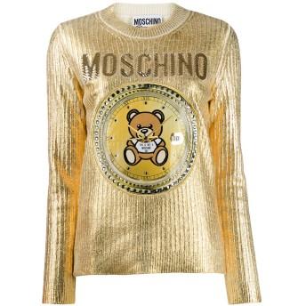 Moschino エンブロイダリー セーター - ゴールド
