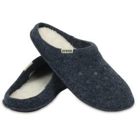 【クロックス公式】 クラシック スリッパ Classic Lined Slipper ユニセックス、メンズ、レディース、男女兼用 ブルー/青 22cm,24cm,26cm,28cm slipper 20%OFF