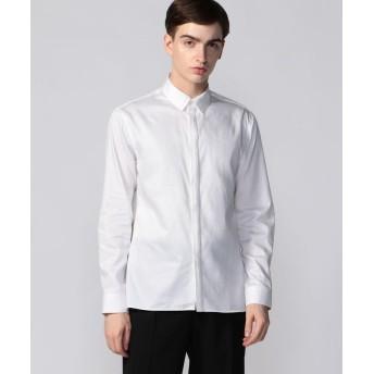 トゥモローランド パウダーサテン ボタンダウンシャツ メンズ 11ホワイト 1 【TOMORROWLAND】