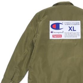 シュプリーム SUPREME Champion Label Coaches Jacket コーチジャケット OLIVE オリーブ メンズ 【新品】 418000440065 OUTER