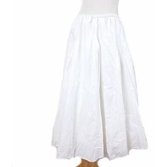 【中古】ユナイテッドアローズ UNITED ARROWS ロング スカート マキシ フレア イージー ホワイト 白 レディース
