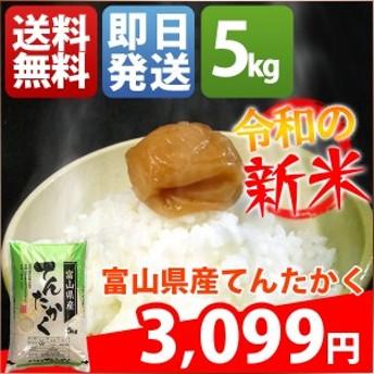 米 5キロ 送料無料 白米 新米 てんたかく 富山県産 令和元年産 お米 5kg 安い 即日発送 クーポン対象