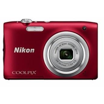 Nikon デジタルカメラ COOLPIX A100 光学5倍 2005万画素 レッド A100RD(中古品)