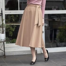 [マルイ] スカーフベルトフレアスカート/ローズティアラ(Rose Tiara)