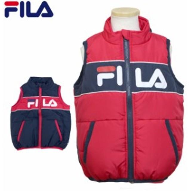 ベスト 中綿 男の子 キッズ 子供 FILA(フィラ) 防寒 袖なし ジャケット