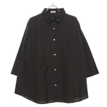 サマンサ モスモス アウトレット Samansa Mos2 outlet BIGブロードシャツ (チャコールグレー)
