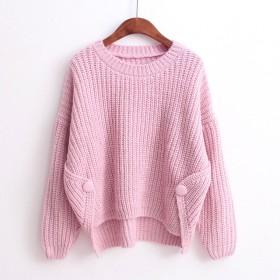可爱い ニット 編み レディース カジュアル ロング ゆったり 通勤 通学