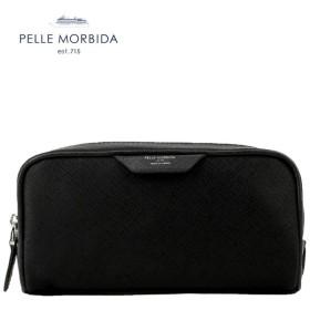国内正規品 即日発送 PELLE MORBIDA ペッレモルビダ CAPITANO キャピターノ リモンタナイロン ポーチ PMO-CA111(ブラック×ブラック)