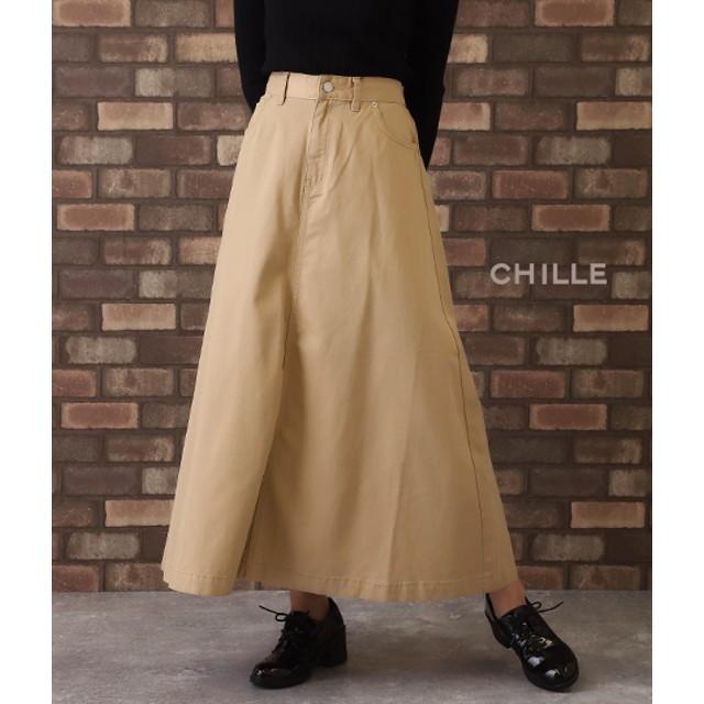 【セール開催中】ANAP(アナップ)ツイル地Aラインロングスカート