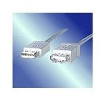 ASB820 USB延長ケーブル 1m Aタイプ オス-Aタイプ メス アイボリー シールド線24AWG:アクロス