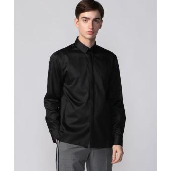 トゥモローランド パウダーサテン ボタンダウンシャツ メンズ 19ブラック 0 【TOMORROWLAND】
