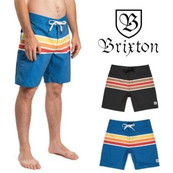ブリクストン サーフパンツ ボードショーツ 水着 BRIXTON BARGE STRIPE TRUNK ショートパンツ ハーフパンツ 短パン [メール便]0510