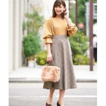 チェックフレアースカート[WEB限定サイズ]【お取り寄せ商品】