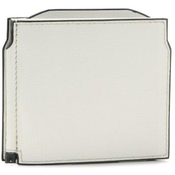 ヴァレクストラ/VALEXTRA 財布 メンズ グレインレザー マネークリップ ホワイト V0L54-044-000WRD