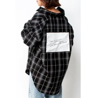 【ヴァンスシェアスタイル/VENCE share style】 バックパッチチェックシャツ