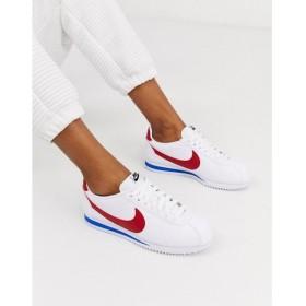 ナイキ Nike レディース スニーカー シューズ・靴 Classic Cortez trainers in retro leather レッド/ホワイト/ブルー