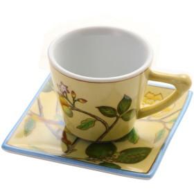 [THE-SECRET-GARDEN ザシークレットガーデン] シノワズリ オールハンドペイント カップ&ソーサー セット 全12種類 花鳥柄 陶器 食器 コップ ティーカップ コーヒーカップ マグカップ (BE1)