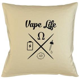 Vape Life Vaping Cloud Chaser Juice Sofa ベッドホームデコールクッション 枕カバー・ピローケース ベージュ