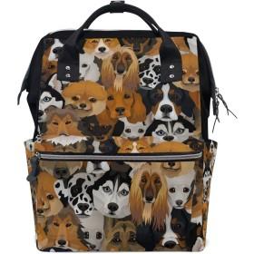 ママバッグ マザーズバッグ リュックサック ハンドバッグ 旅行用 多くの犬柄 ファション