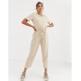 エイソス ASOS DESIGN レディース オールインワン ジャンプスーツ ワンピース・ドレス casual textured jumpsuit with rope detail tie w